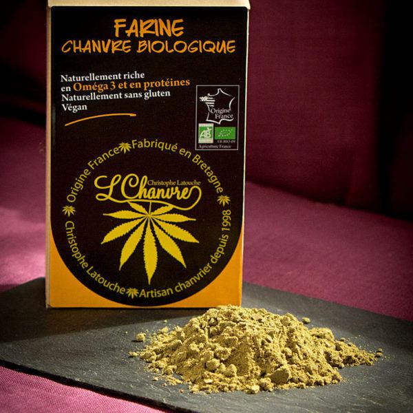 Farine de chanvre biologique, sachet de 250 g