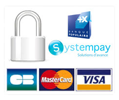Secure payments CB, Mastercard, Visa, with Systempay