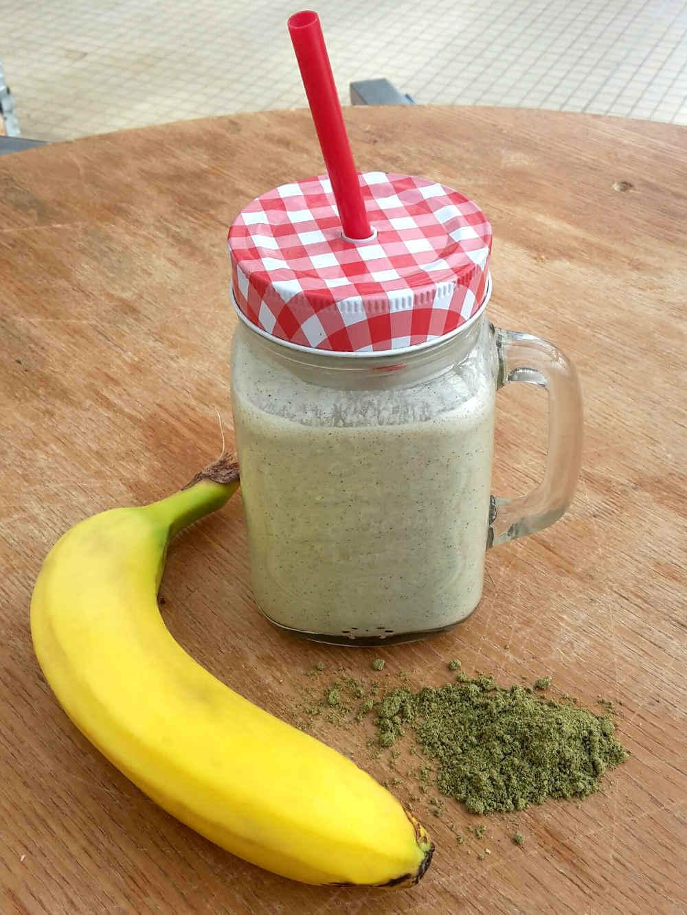 Recette du shaker protéiné banane et chanvre de L' Chanvre