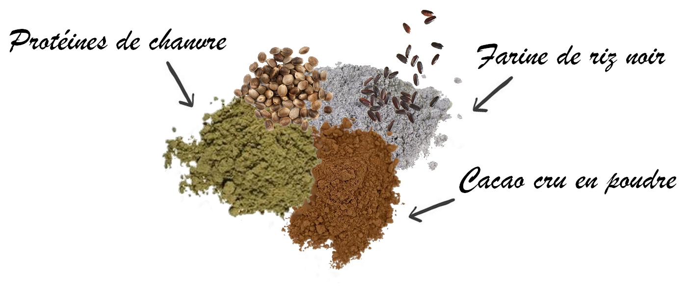 Protéines de chanvre cacao veg whey kao