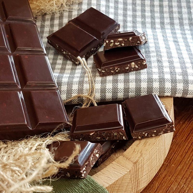 Chocolat noir au chanvre