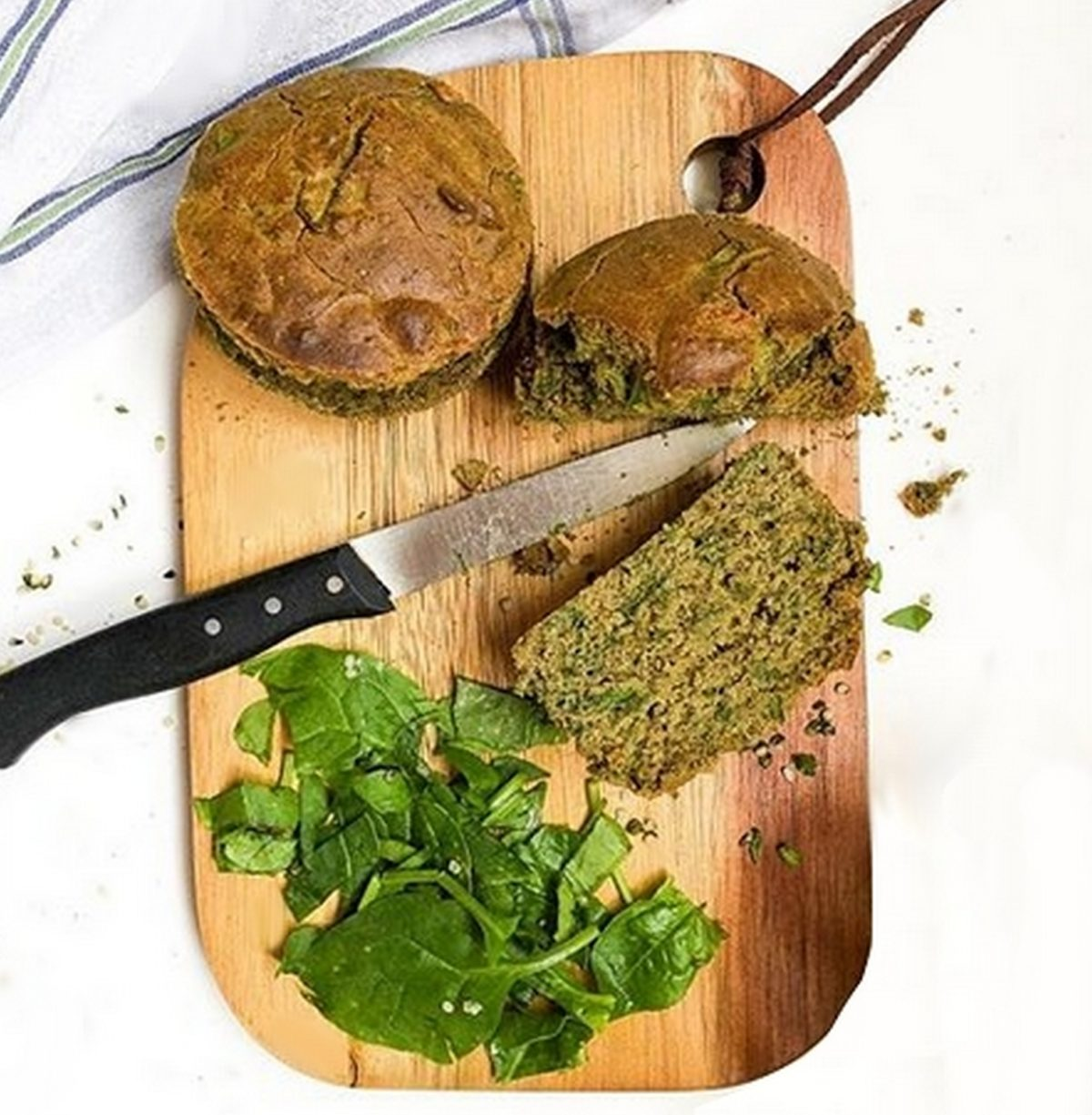Muffins épinards et chanvre