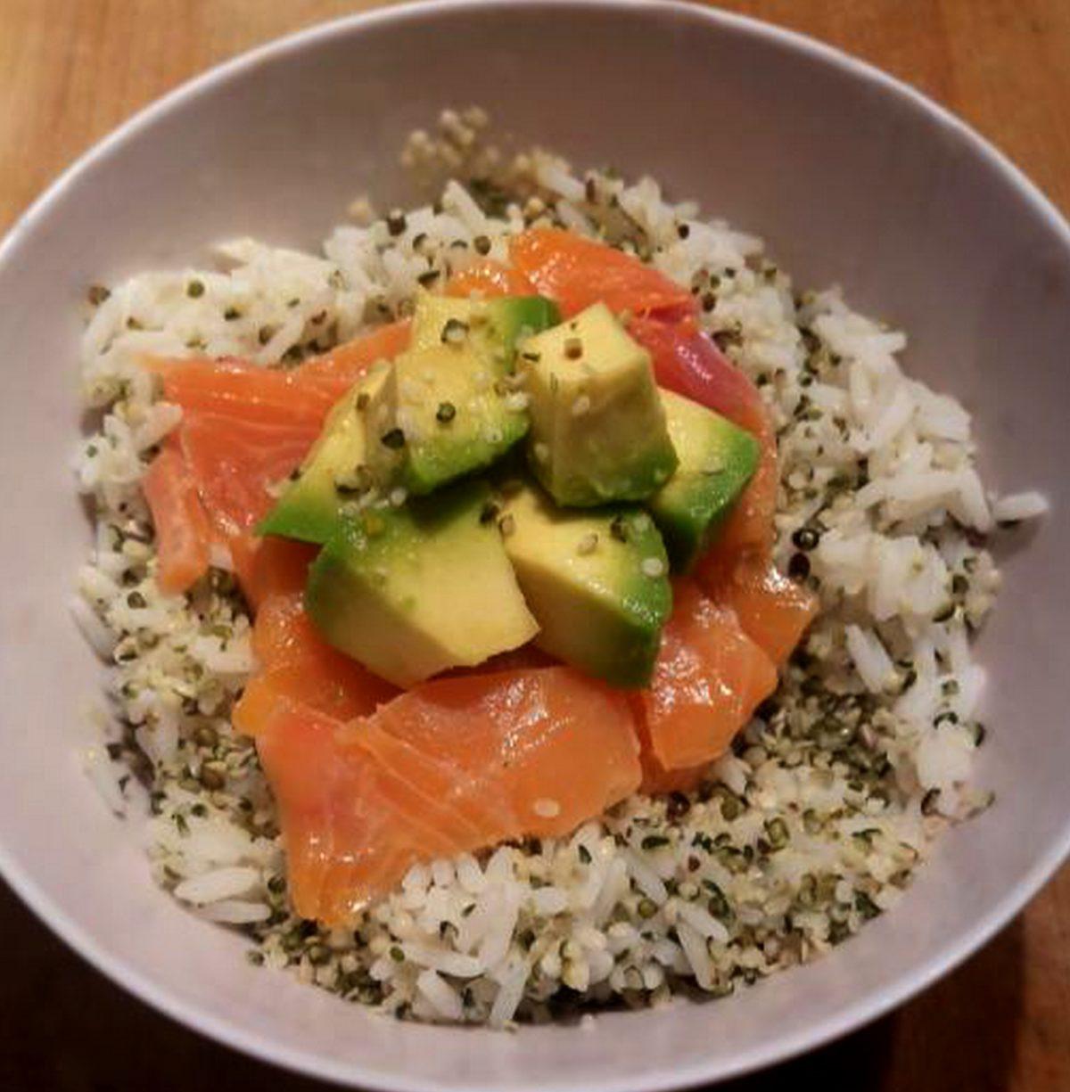 Salad bowl riz avocat et chanvre