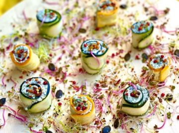 Courgettes makis chanvre
